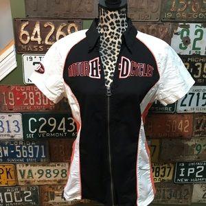 2e2080a160a Harley-Davidson Tops - Harley-Davidson Women s XL zipper Mechanic Shirt